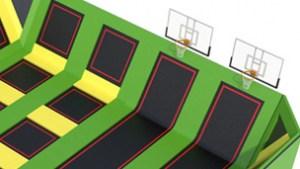 Basketball arena trampoline park