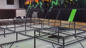Trampoline park installation